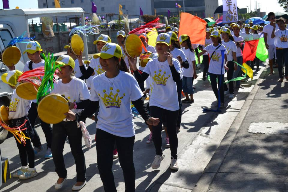 Dancing through the streets of Cebu to celebrate that JESUS REIGNS!