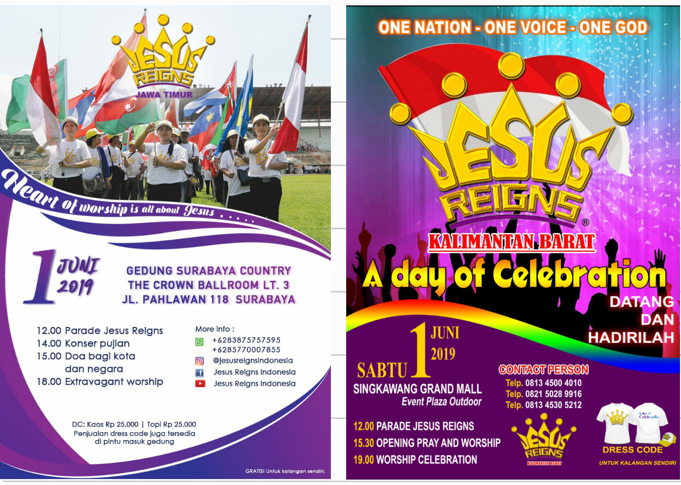 Jesus Reigns Indonesia – A Day of Celebration